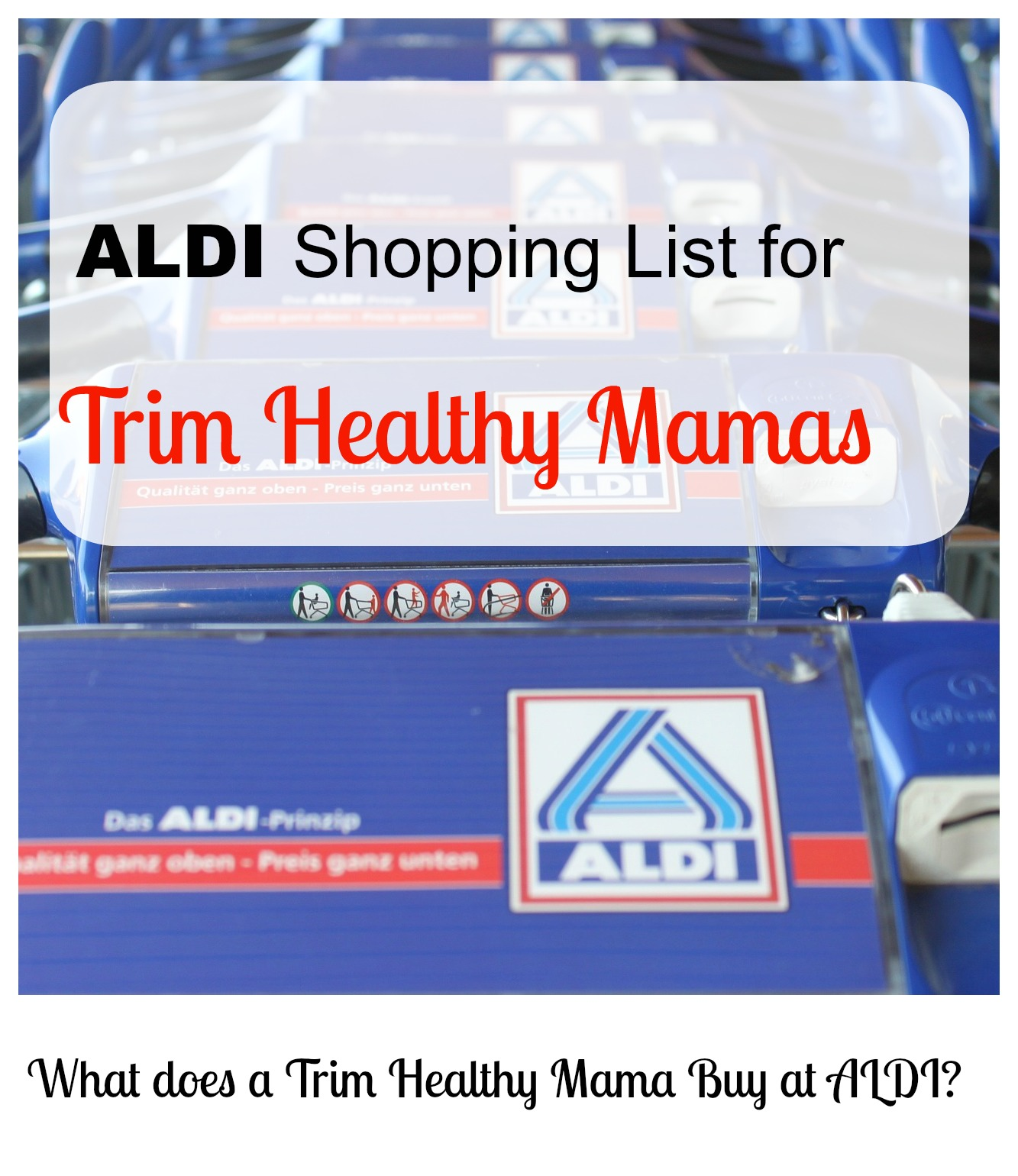 What does a Trim Healthy Mama Buy at ALDI?