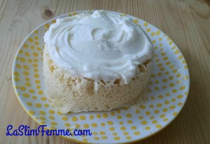 Luscious Lemon Cake - this is an old pic, I left the cream cheese off for this Deep S day.