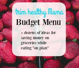 Trim Healthy Mama Budget Menu